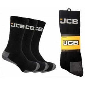 JCB Work Socks Size 6-11 Pack of 3