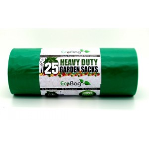 Ecobag Heavy Duty Garden Sacks 100L Green Pack of 25