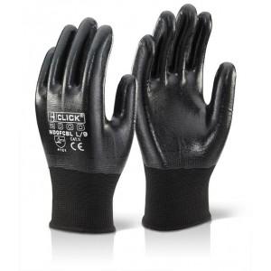 B-Click Nitrile Fully Coated Polyester Gloves Black Medium