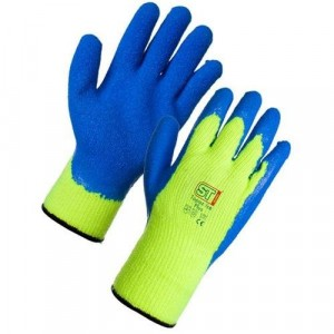 Topaz Ice Fleece Lined Latex Palm Gloves - Size 9/Large