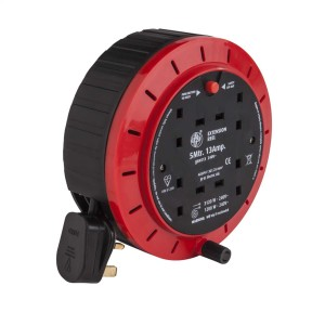 13A 5M 230V 4-Gang Cassette Extension Reel