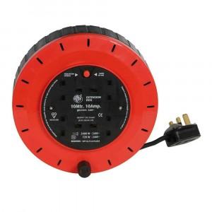 JOJO 10M Extension Cable Reel 4-Socket 240v 10a