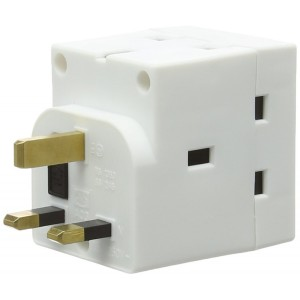 Dencon 3 Way 13Amp Socket Adapter - 3 Plug Sockets