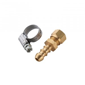 Calor 8mm Hose Nozzle x 8mm Compression Nut & Jubilee Clip