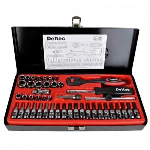 "Deltec 1/4"" Square Drive Socket Set 45 Piece"