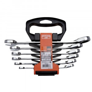 Bahco Ratchet Combination Spanner Set 8-17mm 6 Piece