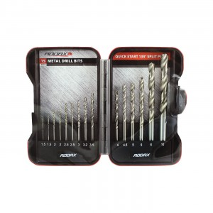Addax Masonry Drill Bit - Set of 15 Pieces