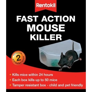 Rentokil Fast Action Mouse Killer Pack of 2