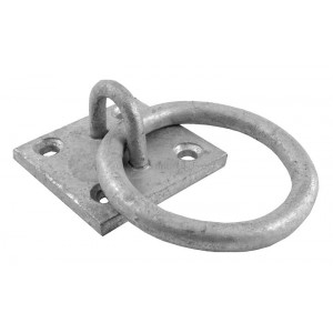 Perry Galvanised Ring on Plate 50x50mm