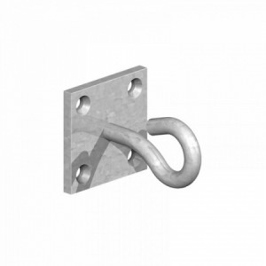 "Perry Galvanised Hook on Plate 2"" x 2"""