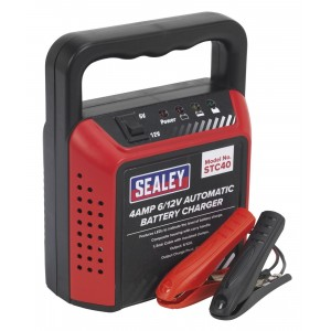 Sealey Compact Battery Charger 6/12V 4Amp 230V Automatic