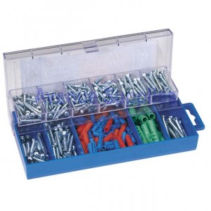 Draper 280 Piece Screw & Wallplug Set