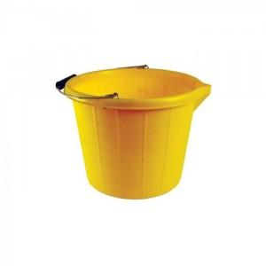 Stadium Heavy Duty Builders Bucket - 14 Litre - Yellow