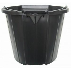 Stadium 3 Gallon Black Builder's Bucket