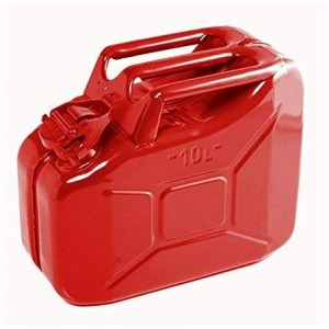 Jerry Can Red With Deto-Stop 10 Litre