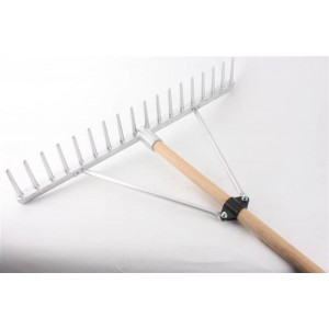 Castex Alloy Head Rake with 6' Wooden Handle