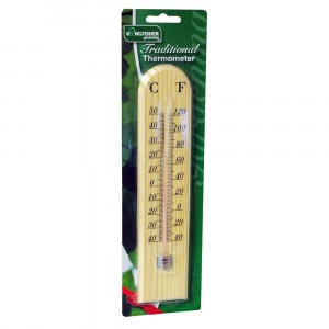 Kingfisher Wooden Thermometer