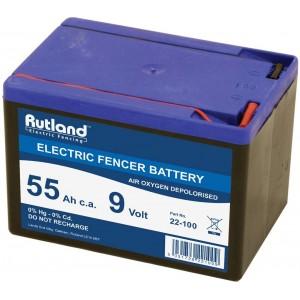 Rutland Elect Fence Batt 55AMP 9V