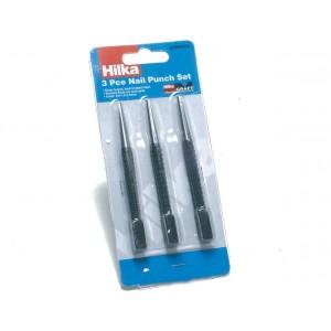 Hilka 3 pce Nail Punch Set Pro Craft