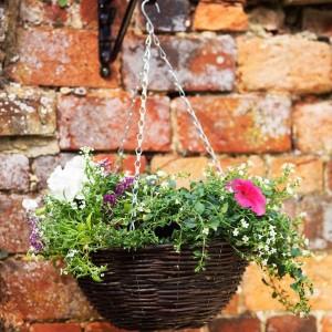 """14"""" Rattan Hanging Basket"""