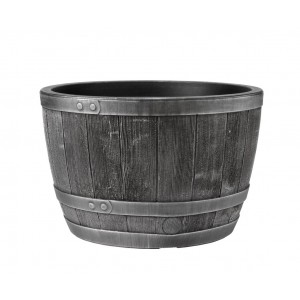 Stewart Blenheim Half Barrel - Pewter Effect - 61cm