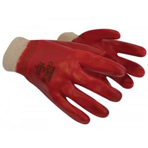 Polyco Red PVC Knit Wrist Gloves