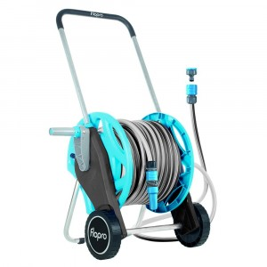 Flopro Flopro+ Assembled Hose Cart Fitted With 30m Garden Hose Pipe