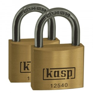 CK Kasp 125 Premium Brass Padlock 40mm Twin Pack
