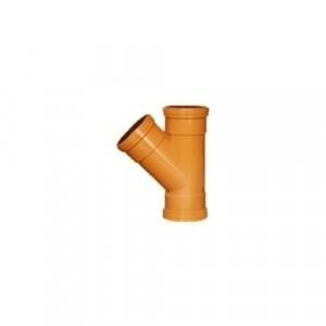 Sewer Y 45 Deg Junction 110mm