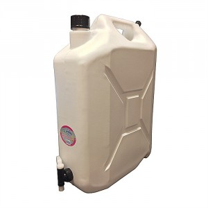 Lordos White Jerry Can With Tap 20 Litre