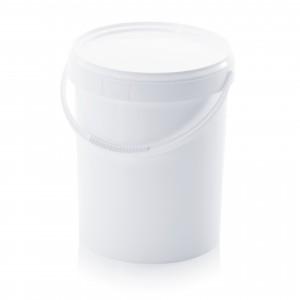 White Bucket & Lid 10 Litre