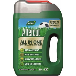 Westland Aftercut All in One Lawn Feed, Weed & Moss Killer 80Sq.m
