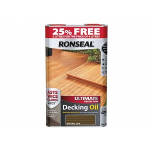 Ronseal Ultimate Protect Decking Oil 4L + 25% Free