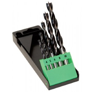 CK Brad Pointed Wood Drill Bit Set of 5 Pieces