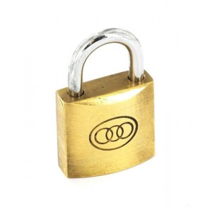 Perry Tricircle Brass Padlock
