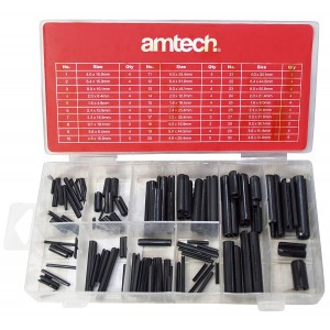 Amtech S6270 Roll Pin Assortment 120 Pieces