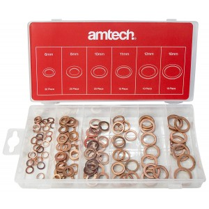 Amtech S6195 Copper Washer Assortment 110 Pieces
