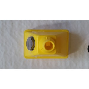 Plastic Yellow Funnel With Filter