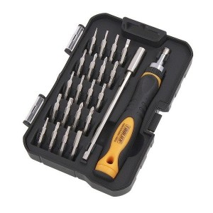 Toolux 22pc Precision Ratchet Screwdriver Bit Set