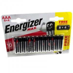 Energizer Max 1.5V Batteries 8 + 4 Free