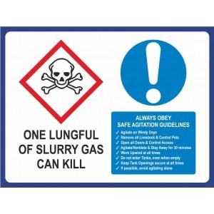 Farm Sign - Danger Slurry Gas Lge