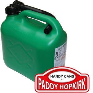 Handy Jerry Fuel Can Plastic Green 5 Litre