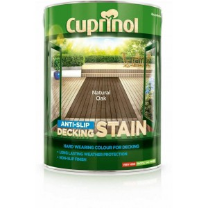 Cuprinol Anti Slip Decking Stain 5 Litre Natural Oak