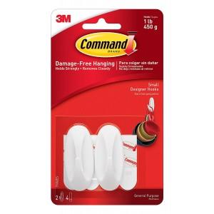 Command Designer Small Hooks White