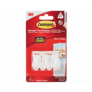 Command Micro Hooks Pack of 3