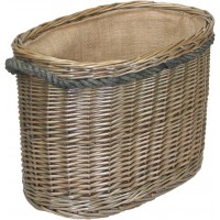 Willow Medium Oval Rope Handled Log Basket