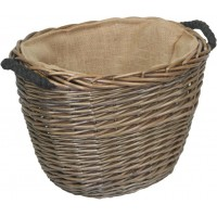 Willow Small Oval Log Basket