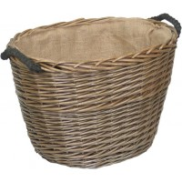 Willow Medium Antique Wash Oval Log Basket