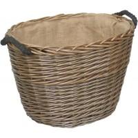 Willow Medium Antique Wash Oval Log Basket