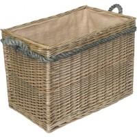 Willow Medium Rectangular Rope Handled Log Basket